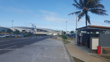 Mauritius International Airport Public Bus Stop